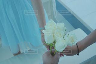 花を持っている手 - No.905485