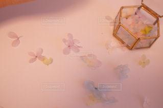 近くに白いテーブルの上の写真・画像素材[934346]
