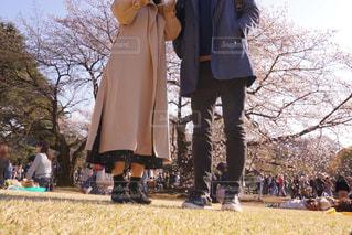 公園は人の観衆の前に立っている人の写真・画像素材[1137172]