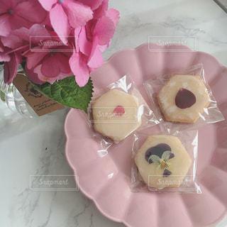 花,花瓶,部屋,紫陽花,クッキー,エディブルフラワー