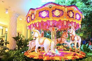 ピンク,白,かわいい,カラフル,女子,遊園地,メリーゴーランド,馬,可愛い,ラスベガス,パステルカラー,木馬,おしゃれ,ユニコーン,フォトジェニック,ファンシー,インスタ映え