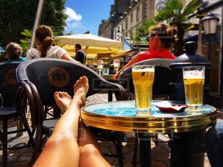 夏,日焼け,ヨーロッパ,旅行,ビール,夏休み
