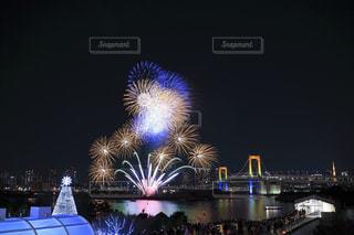 海,夜,夜景,東京,花火,光,夏休み,Sky