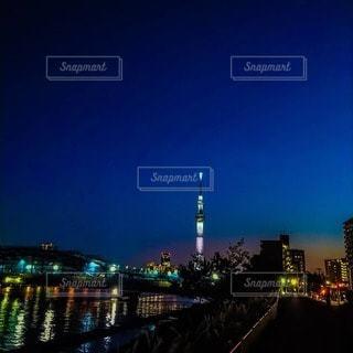 スカイツリーと隅田川の写真・画像素材[2740532]