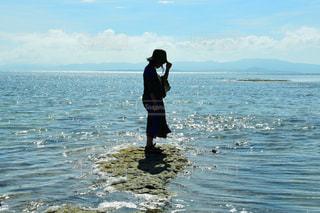 竹富島の西桟橋の先端にて。の写真・画像素材[1215215]