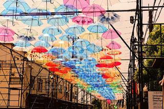 風景,春,夏,街並み,雨,傘,屋外,カラフル,アート,背景,イベント,あめ,梅雨,天気,色,作品,彩り,アンブレラ,umbrella,インスタ映え,傘アート