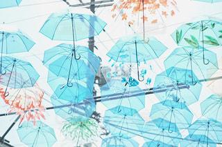 傘アート フィルム調の写真・画像素材[1234147]
