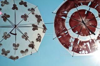 傘アート 蝶と赤の写真・画像素材[1234173]