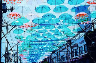 傘アート フィルム加工の写真・画像素材[1234185]