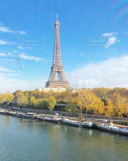 秋,紅葉,海外,フランス,パリ,エッフェル塔