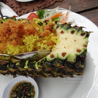 ペナン島で食べたパイナップルライスの写真・画像素材[808031]