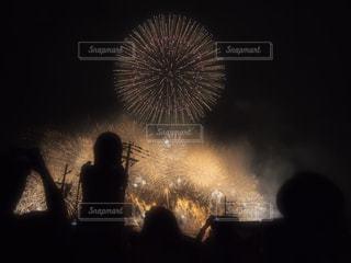 花火,幻想的,夏の夜