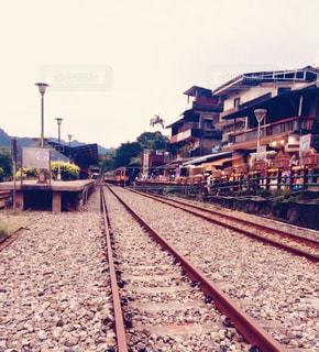 鋼のトラックの列車の写真・画像素材[925178]