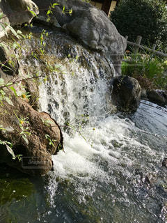 緑の中の滝🌿🍁🍂🍃の写真・画像素材[777914]