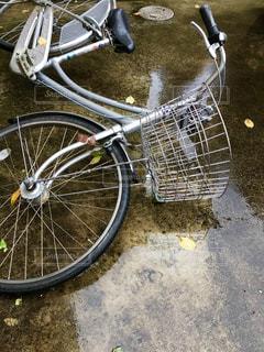 台風で自転車倒れる😖☔➰🌀の写真・画像素材[822798]