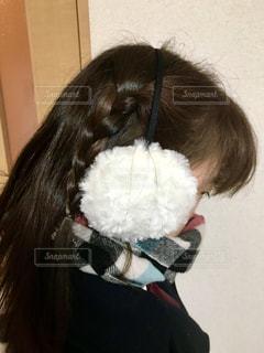 寒くて登校辛いです((´д`)) ブルブル…の写真・画像素材[873351]
