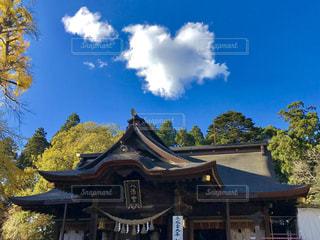 きれいな青空にハートの雲💕幸せな気分😊の写真・画像素材[876206]