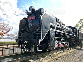 公園の蒸気機関車の写真・画像素材[1248962]