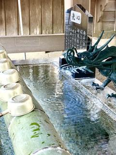 神社の手水舎の写真・画像素材[1248995]