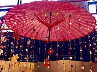 和傘に吊るし雛の写真・画像素材[1263864]