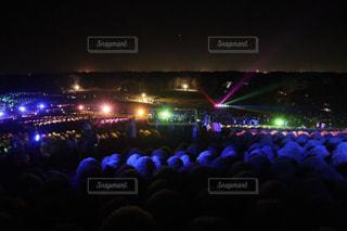夏の10日間だけのコキア☆ライトアップの写真・画像素材[1424459]