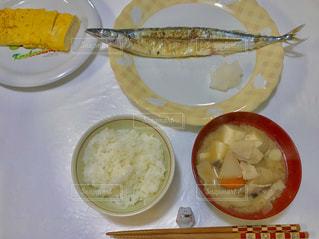 食べ物,秋,卵焼き,味噌汁,ご飯,夕飯,秋刀魚,豚汁,サンマ,食欲の秋