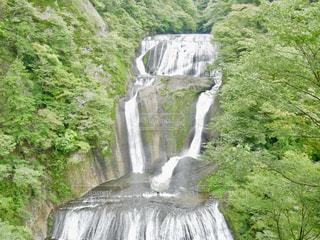 一番上の展望台から見た袋田の滝の写真・画像素材[1491469]
