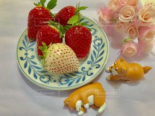 大好きいちご🍓白いいちごも美味しいです😋💕の写真・画像素材[1765289]