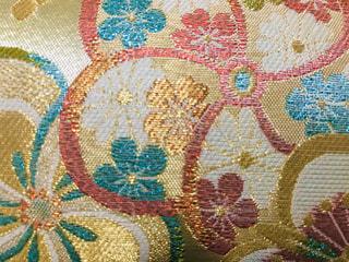 和装バックの花柄模様🌸の写真・画像素材[3108011]