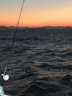 海,空,太陽,光,釣り,ジギング