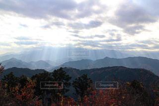 背景の山と木の写真・画像素材[842222]