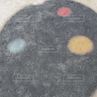 近くにボールのアップの写真・画像素材[1068271]