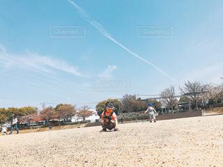 砂浜でカイトを飛行する人々 のグループ - No.1101153