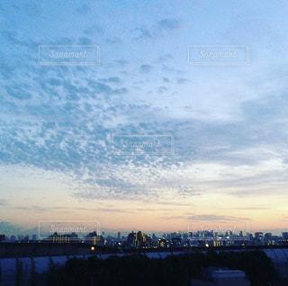 空,夕日,大阪,夕焼け,夕方