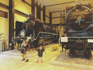 鋼のトラックの列車の写真・画像素材[1672288]