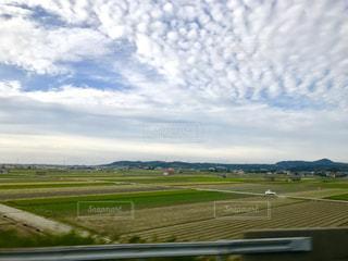 空,秋,夕方,車窓,うろこ雲,淡路島,高速バス