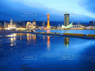 雨の日の神戸の写真・画像素材[2219004]