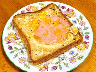 ハムエッグトーストの写真・画像素材[3128978]