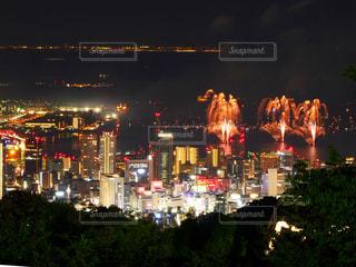 花火&夜景の写真・画像素材[3609599]