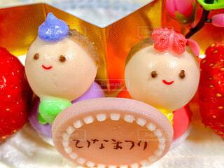 ひな祭りケーキの写真・画像素材[4213351]