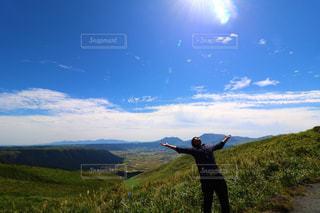 男性,空,光,人,旅行,風,九州