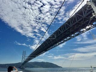 明石海峡大橋を下から見上げると?!の写真・画像素材[925625]