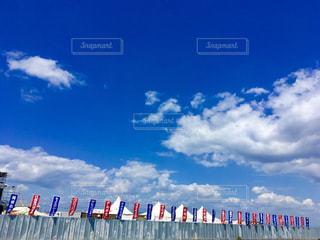 空に凧の飛行の人々 のグループの写真・画像素材[717977]