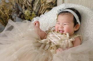 赤ん坊の笑顔の写真・画像素材[2933487]