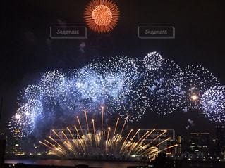 夏,夜,夜景,花火,花火大会,淀川,迫力