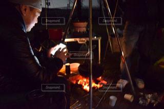 アウトドア,冬,温かい,キャンプ,鍋,焚き火,お鍋,釣り鍋