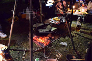 アウトドア,冬,温かい,キャンプ,鍋,暖かい,焚き火,お鍋