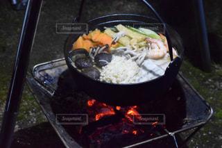 アウトドア,冬,キャンプ,鍋,暖かい,焚き火