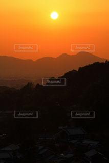 明日香村の秋の夕日の写真・画像素材[784239]