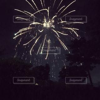 夜空,花火,キラキラ,夏祭り